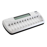 Digital LCD 12 Slot AA and AAA Battery Charger