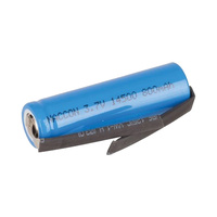 Generic 14500 (AA) 3.7v 800mah Li-Ion Battery (With Tabs)
