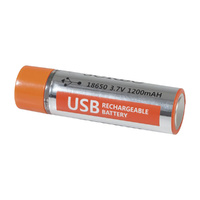 USB Rechargeable 18650 Lipo Battery Module (Pair)