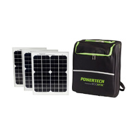 Portable Power Pack with 300w Inverter and Three 10w Solar Panels