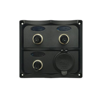 3 Way Automotive Style Switch Panel with Dual 2.1a USB Sockets