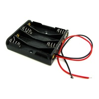 AA x 4 Battery Holder (Flat)