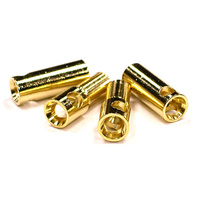 5.5mm Gold Banana Bullet Connectors (2 Pair)