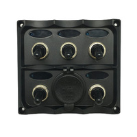 5 Way Automotive Style Switch Panel with Dual 2.1a USB Sockets