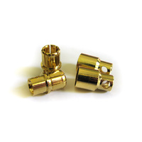 8.0mm Gold Banana Bullet Connectors (2 Pair)