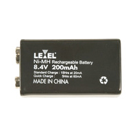 9v Type (8.4V) 200mAh NiMH Rechargeable Battery