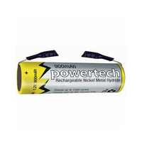 Powertech AAA 900mah Ni-MH with Tabs