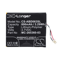 Aftermarket Amazon Kindle 7th Generation Replacement Battery