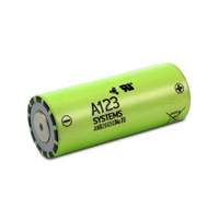 A123 Systems 3.3v 2.5ah 26650 LiFePO4 Cell (ANR26650M1-B)