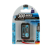 Ansmann 9v 300mah NiMH Rechargeable Battery