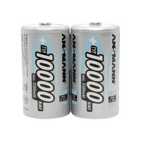 Ansmann D Size 10000mah NiMH Rechargeable Battery (2 Pack)