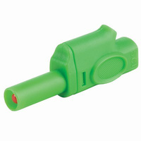 Insulated Piggyback Banana Plug 4mm (Green)