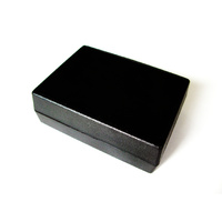 Black Project Box with Battery Compartment