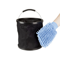 Automotive Collapsible Bucket and Mitt Kit