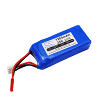 7.4v 1200mah 25c Lipo Battery WLTOYZ