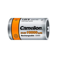 Camelion D Size Rechargeable 10000mah Ni-MH (2 Pack)