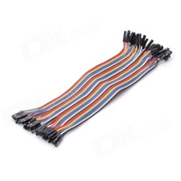 DuPont 40 Point Female to Female Multi Colour Jumper Cable