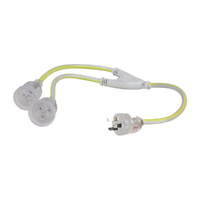 Heavy Duty Dual Output Extension Lead 10a