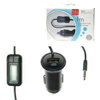 Aerpro Full Frequency FM Transmitter and USB Charger