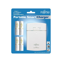 Fujitsu FSC342 AA and AAA USB Fast Battery Charger and Power Bank (inc 4 x AA Batteries)