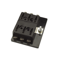 6 Way Standard ATS Blade Fuse Block with Single Power In Terminal