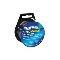Narva Single Core 2.5mm Cable Roll Black (7m)