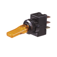 Plastic Toggle Switch with Amber LED