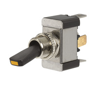 Heavy Duty Toggle Switch with Amber LED OFF/ON SPST