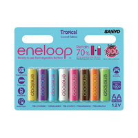 Sanyo Eneloop AA 1900mah Limited Edition Tropical Colours (8 Pack)