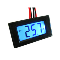 Digital Backlit LCD 50amp Ammeter and Shunt