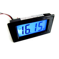 Digital Backlit LCD Voltmeter 20v DC