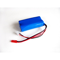 7.4v (18500) 1500mah Li-Ion Custom Battery Pack