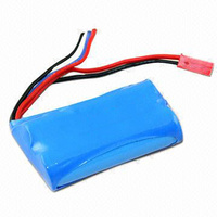7.4v (14500) 750mah Li-Ion Custom Battery Pack