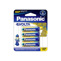 Panasonic Evolta Alkaline AA Battery (4 Pack)