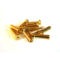 Low Profile 4mm Male Bullet Connectors (10 Pieces)
