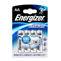 Energizer Lithium 1.5v AA Battery (4 Pack) - Carton Lot