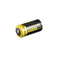 Nitecore Protected 16340 (CR123A) 3.7v 650mah Li-Ion Battery (NL166)