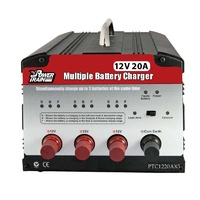 Power Train 6 Stage 12v 20a 3 Output Battery Charger