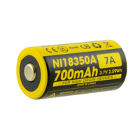 Nitecore 3.7v 700amh 18350 Li-Ion Battery