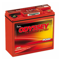 Odyssey PC680MJT High Performance 12v 220ccA AGM Sealed Lead Acid Battery