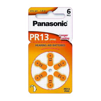 Panasonic PR48 Zinc Air Hearing Aid Battery (6 Pack) - Carton Lots
