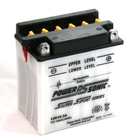 Power Sonic 12N10-3A 12v 95ccA 10ahr Conventional Motorbike Battery