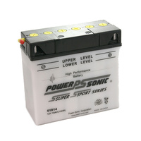 Power Sonic 51814 12v 190ccA 19ahr Conventional Motorbike Battery