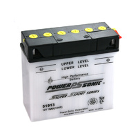 Power Sonic 51913 12v 190ccA 19ahr Conventional Motorbike Battery