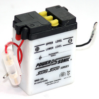 Power Sonic 6N2-2A 6v 16ccA 2ahr Conventional Motorbike Battery