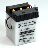 Power Sonic 6N4-2A-2 6v 24ccA 4ahr Conventional Motorbike Battery