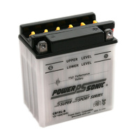 Power Sonic CB10L-B 12v 160ccA 11ahr Conventional Motorbike Battery (YB10L-B)