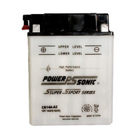 Power Sonic CB14A-A2 12v 190ccA 14ahr Conventional Motorbike Battery (YB14A-A2)