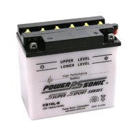 Power Sonic CB16L-B 12v 240ccA 19ahr Conventional Motorbike Battery