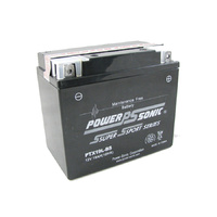 Power Sonic PTX19L-BS 12v 270ccA 19ahr Sealed AGM Motorbike Battery